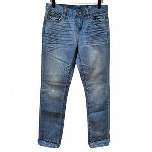 J. Crew Medium Wash Slim Broken In Boyfriend Jeans